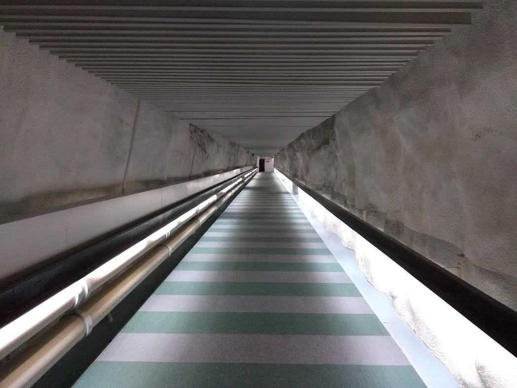 Unterirdische Tunnel im Hilton Hotel Kalastajatorppa Helsinki