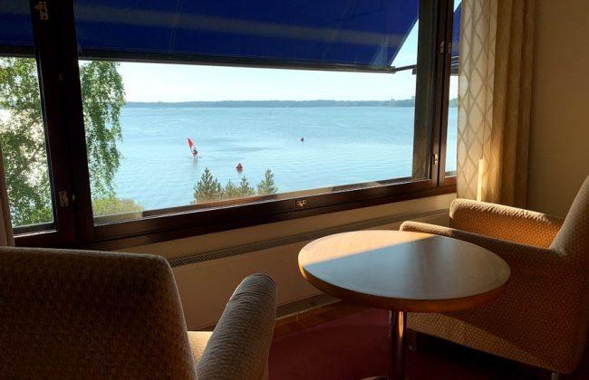 Ausblick aus Deluxe-Zimmer im Seaside Wing des Hilton Helsinki Kalastajatorppa