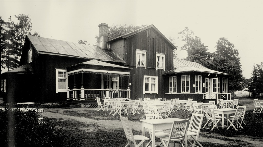 Ehemaliges Café auf dem Gelände des Hilton Helsinki Kalastajatorppa