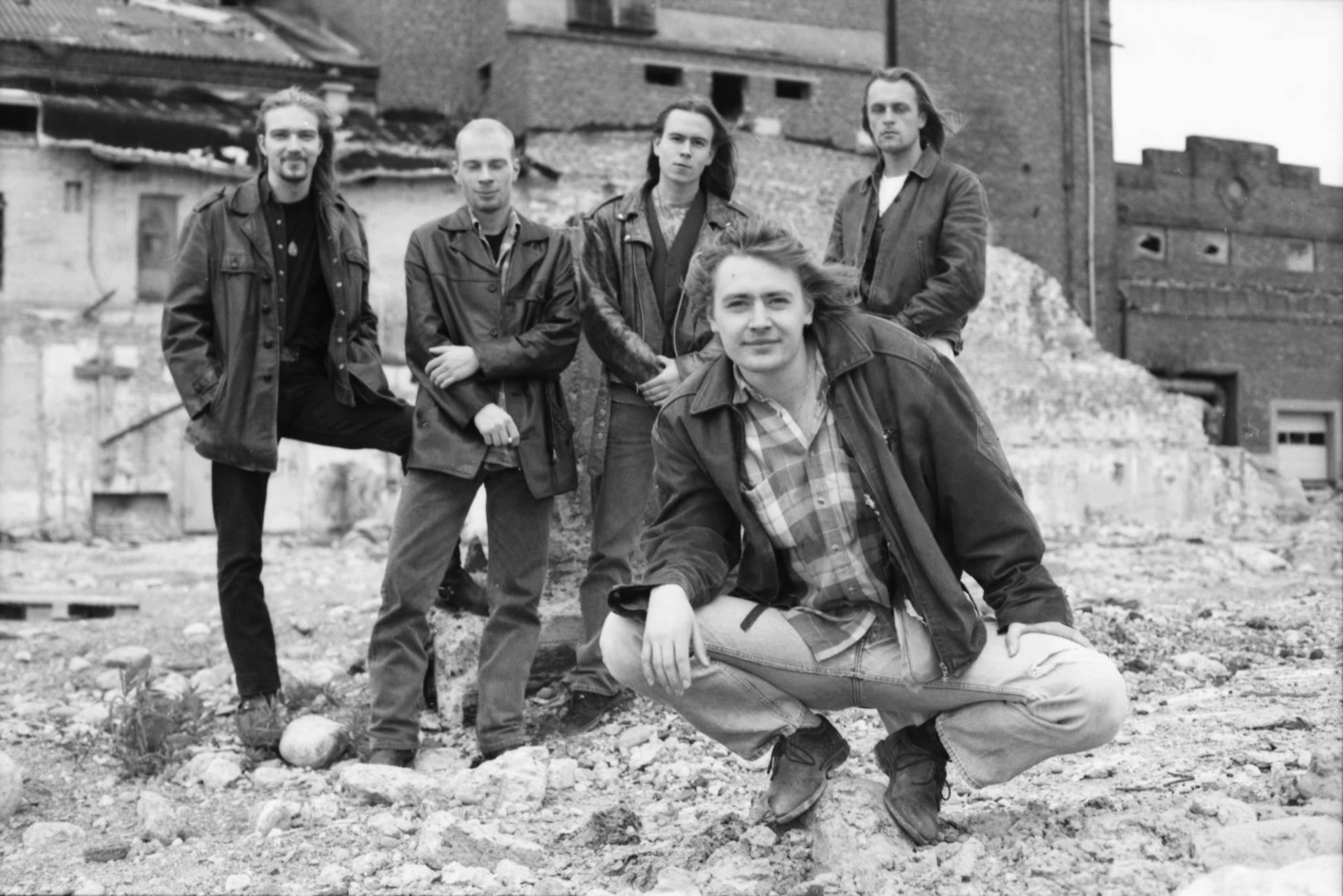 Kimmo Härmä mit seiner Band in den 90er Jahren