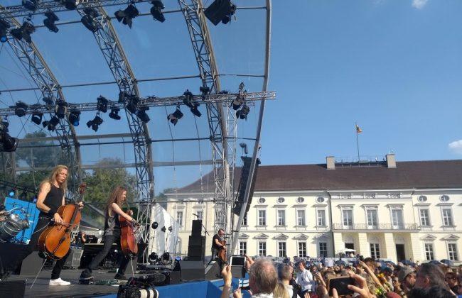 Apocalyptica rocken beim Bürgerfest des Bundespräsidenten 2019 am Schloss Bellevue