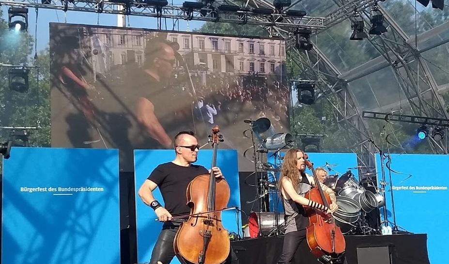 Apocalyptica aus Finnland live beim Bürgerfest des Bundespräsidenten 2019