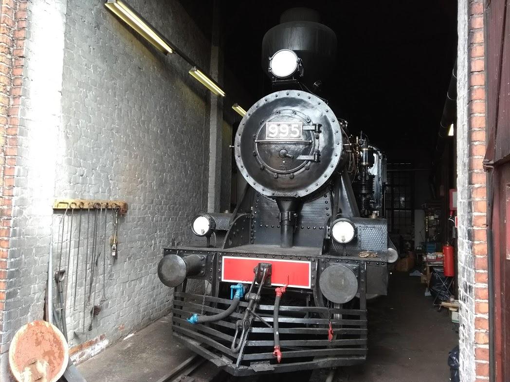 Historische Dampflok bei Steamrail in Nurmes