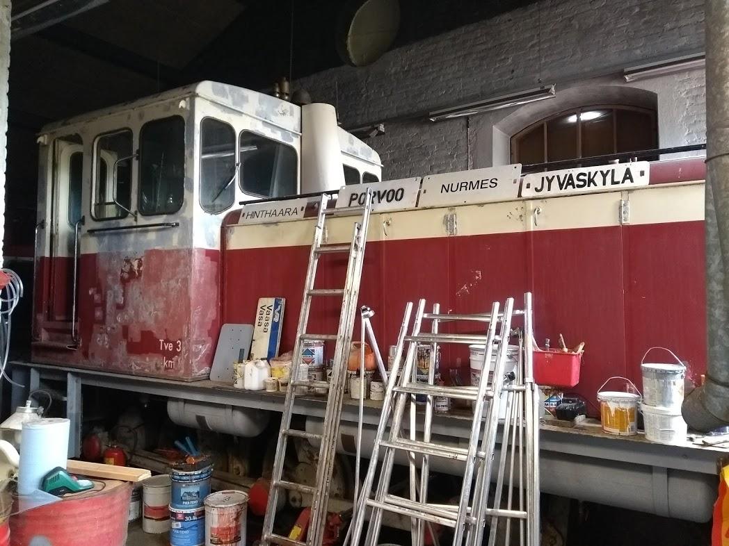 Lokomotive bei Steamrail in Nurmes