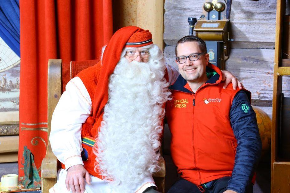 Besuch beim Weihnachtsmann in Rovaniemi