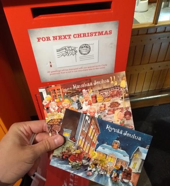 Briefkasten für Weihnachtspost im Santa Claus Village