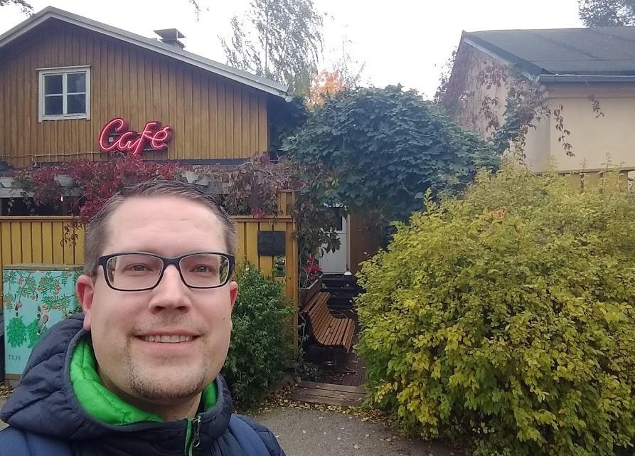 Eingang zur Rajaportin Sauna, Tampere