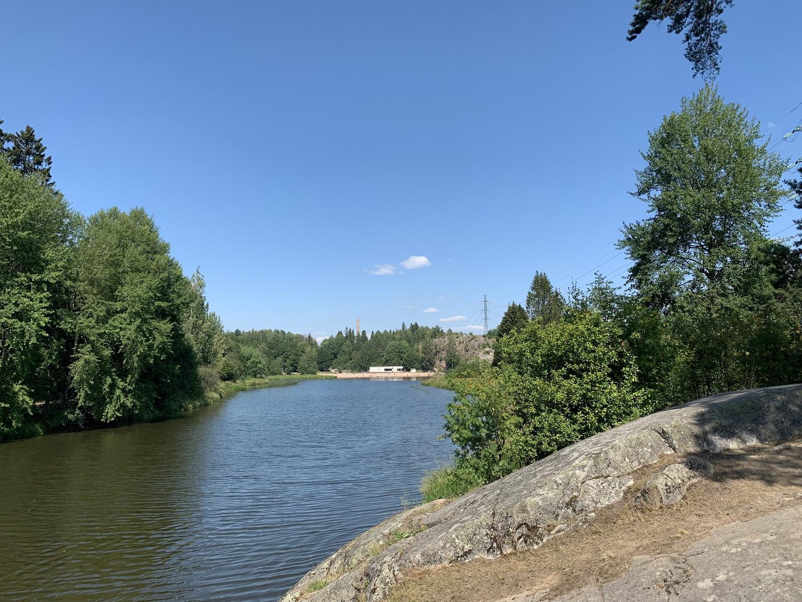 Blick zum Strandbad Pikkukoski, Helsinki