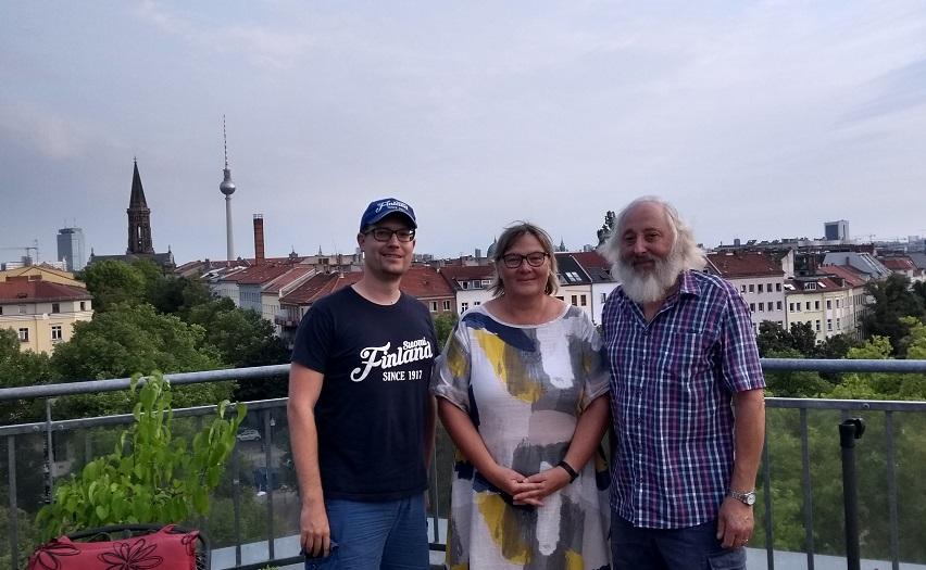 René Schwarz (FinnTouch), Petra und Burkhard (Das finnische Buch e.V.)