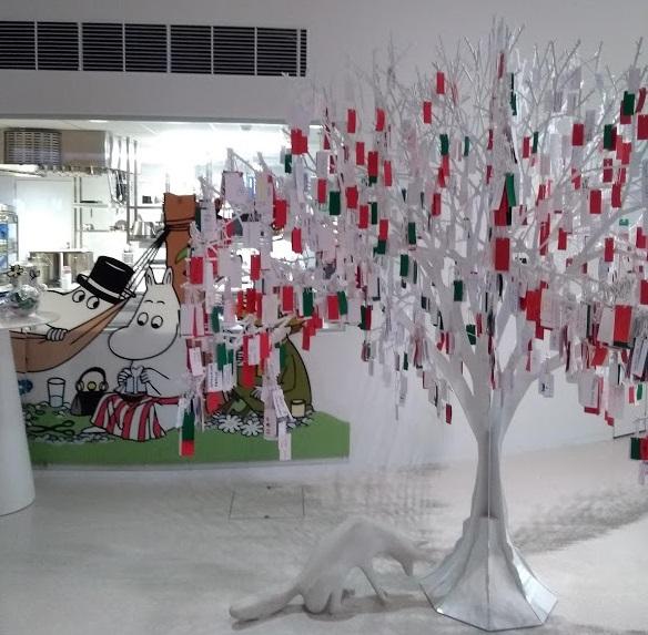 Wunschbaum im Fazer Visitor Centre