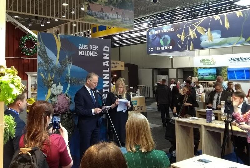 Jari Leppä, finnischer Landwirtschaftsminister, auf der Grünen Woche 2020