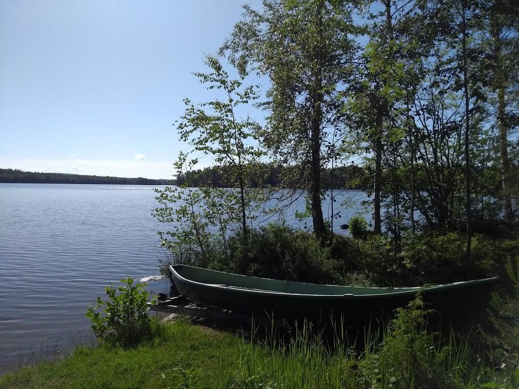 Boot an finnischem Ferienhaus