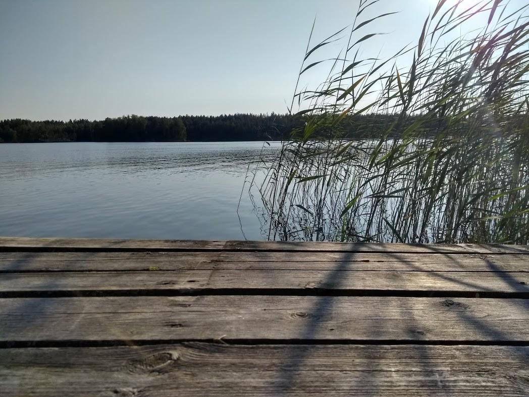 Steg am finnischen Mökki