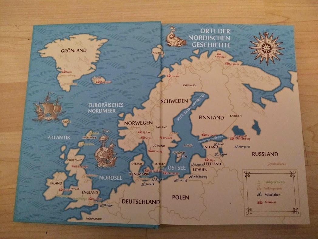 Karte Nordeuropas