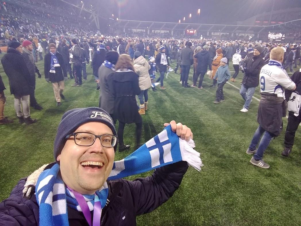 René (FinnTouch) beim EM-Qualifikationsspiel Finnland - Liechtenstein