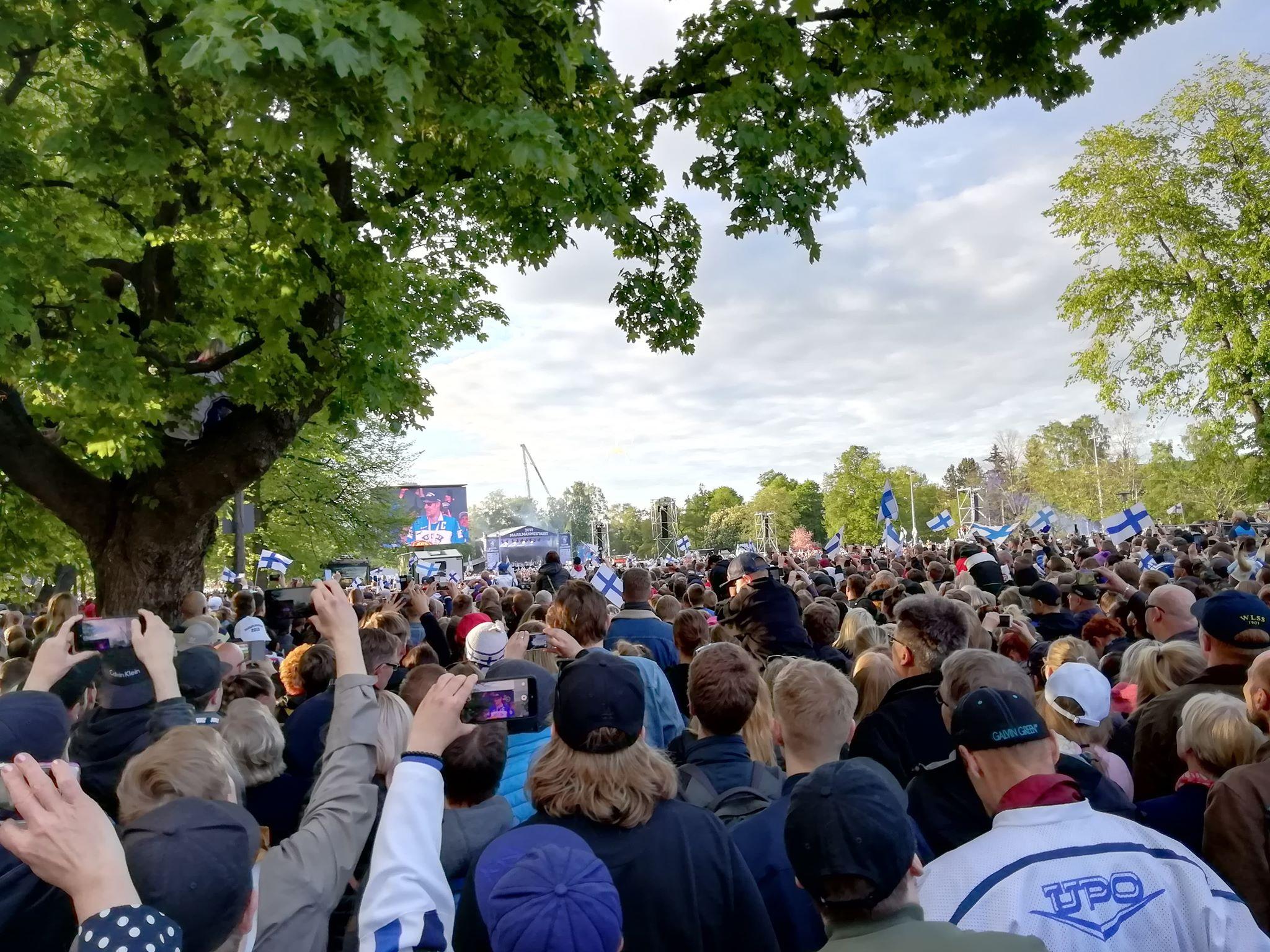 Feier zur Eishockey-Weltmeisterschaft 2019 in Helsinki