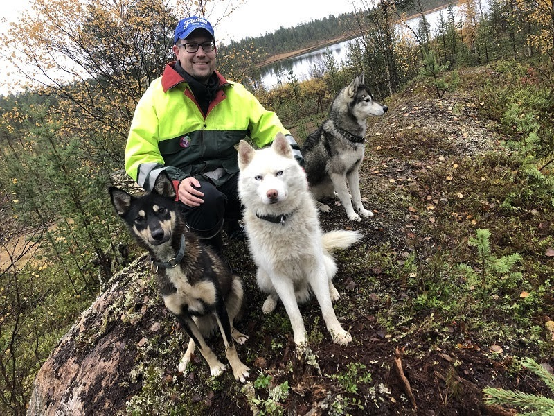 Mit Huskys bei NaaliTours in Ivalo