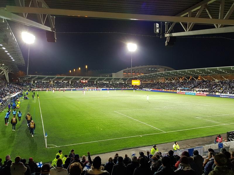 Fankurve im Stadion von Helsinki