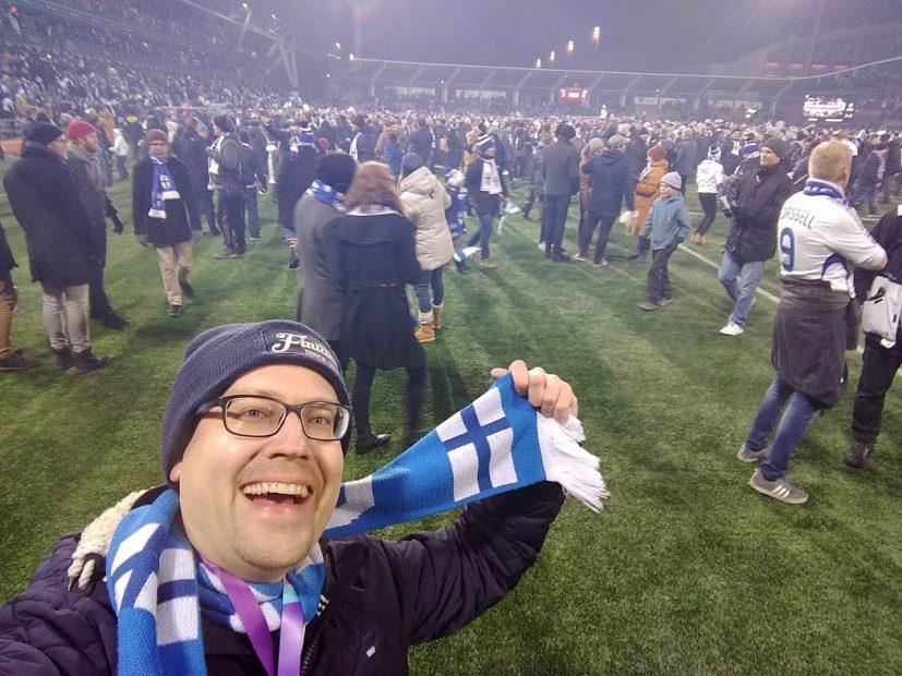 Finnland zur EM - und René mittendrin
