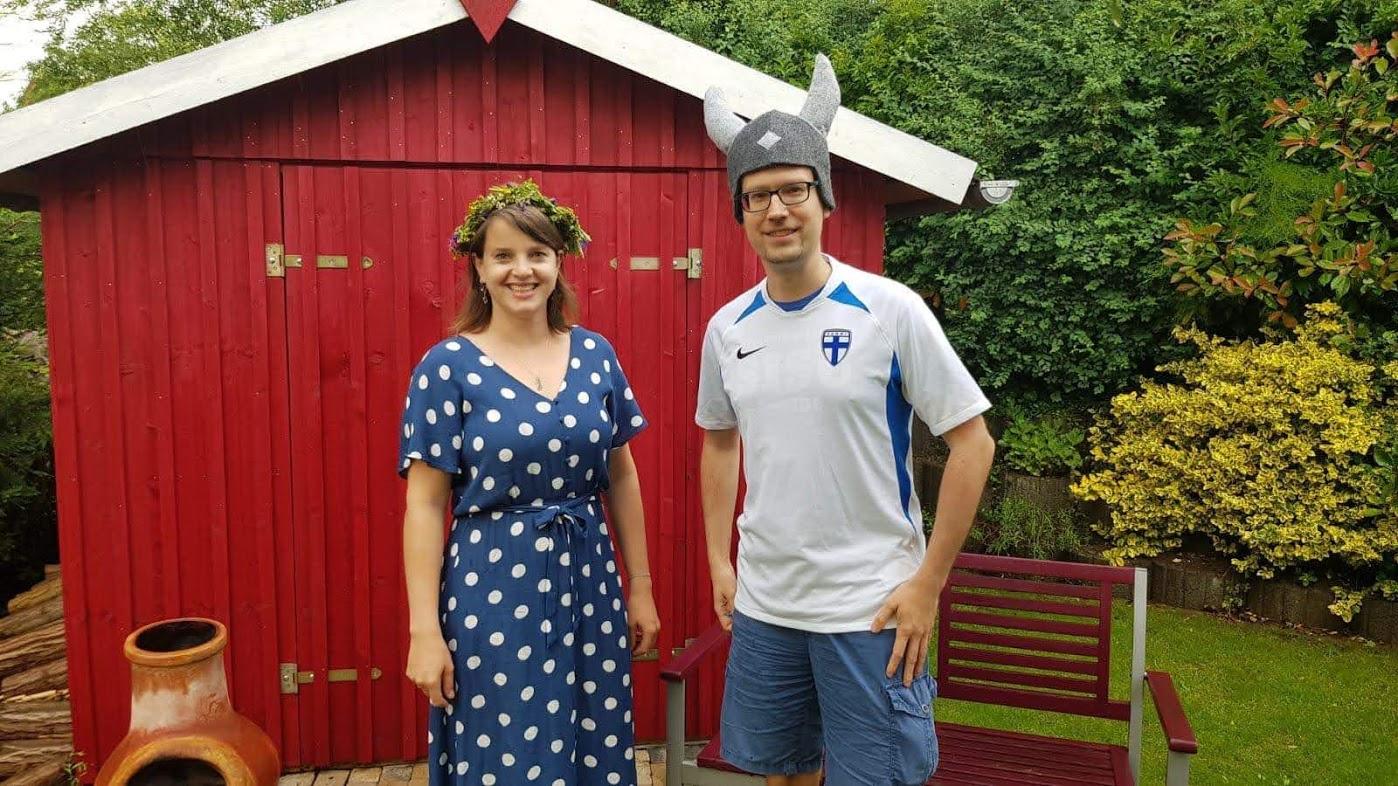 Tanja und René an Mittsommer