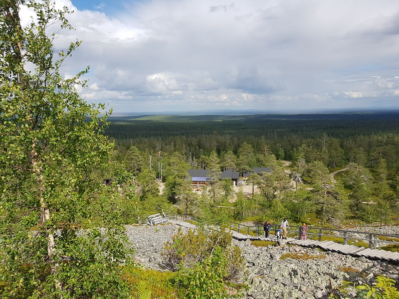 Panoramablick auf Lappland in Lampivaara