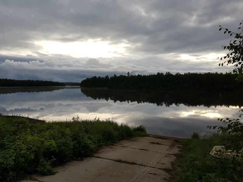 Fluss Kitinen in Finnisch-Lappland