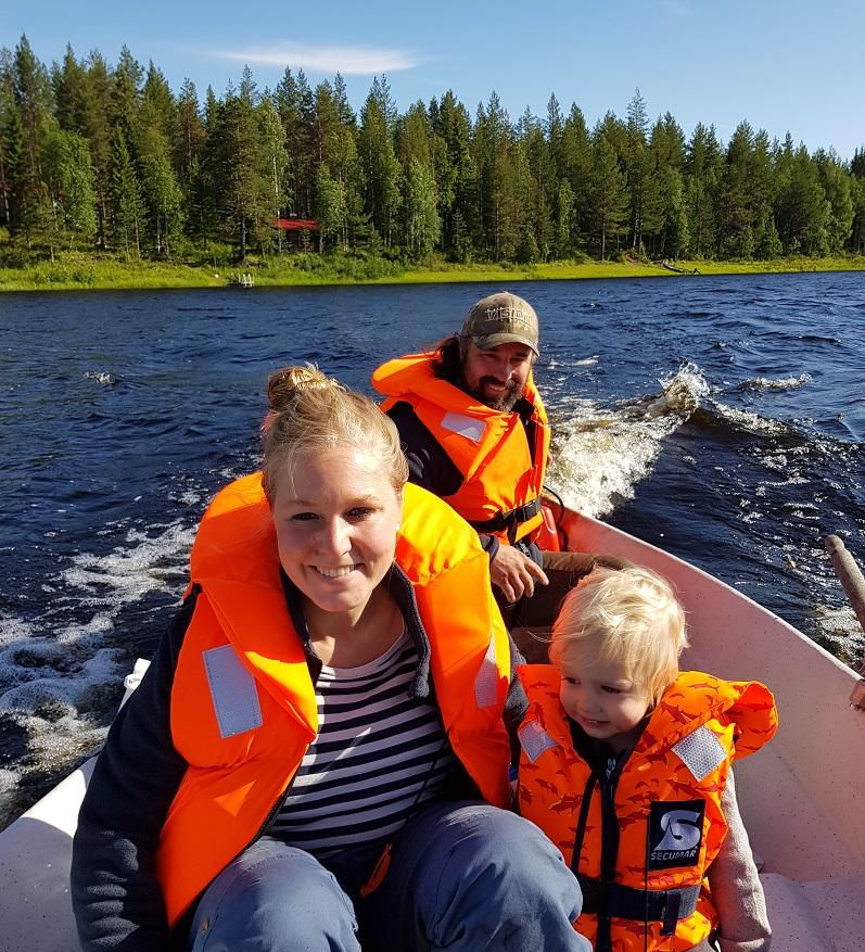 Finnfloat-Familie Rebecca, Sami und Suvi