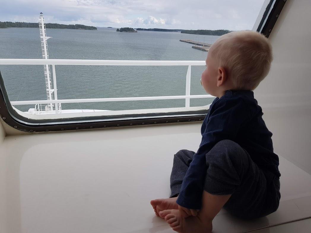 Ausblick aus der Kabine auf der MS Finnmaid