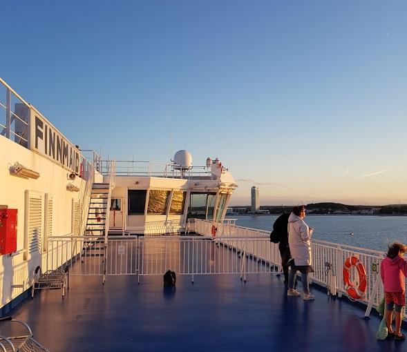 MS Finnmaid kurz vor Travemünde