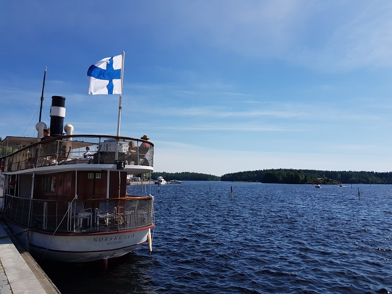 Dampfschiff in Savonlinna