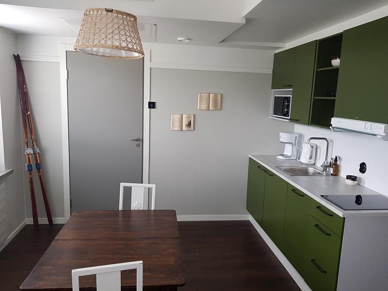 Küche in einem Zimmer des Hotelli Lietsu in Joensuu