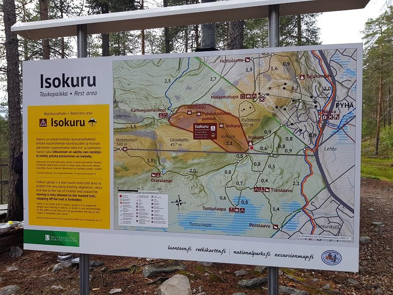 Hinweisschild im Nationalpark Pyhä-Luosto