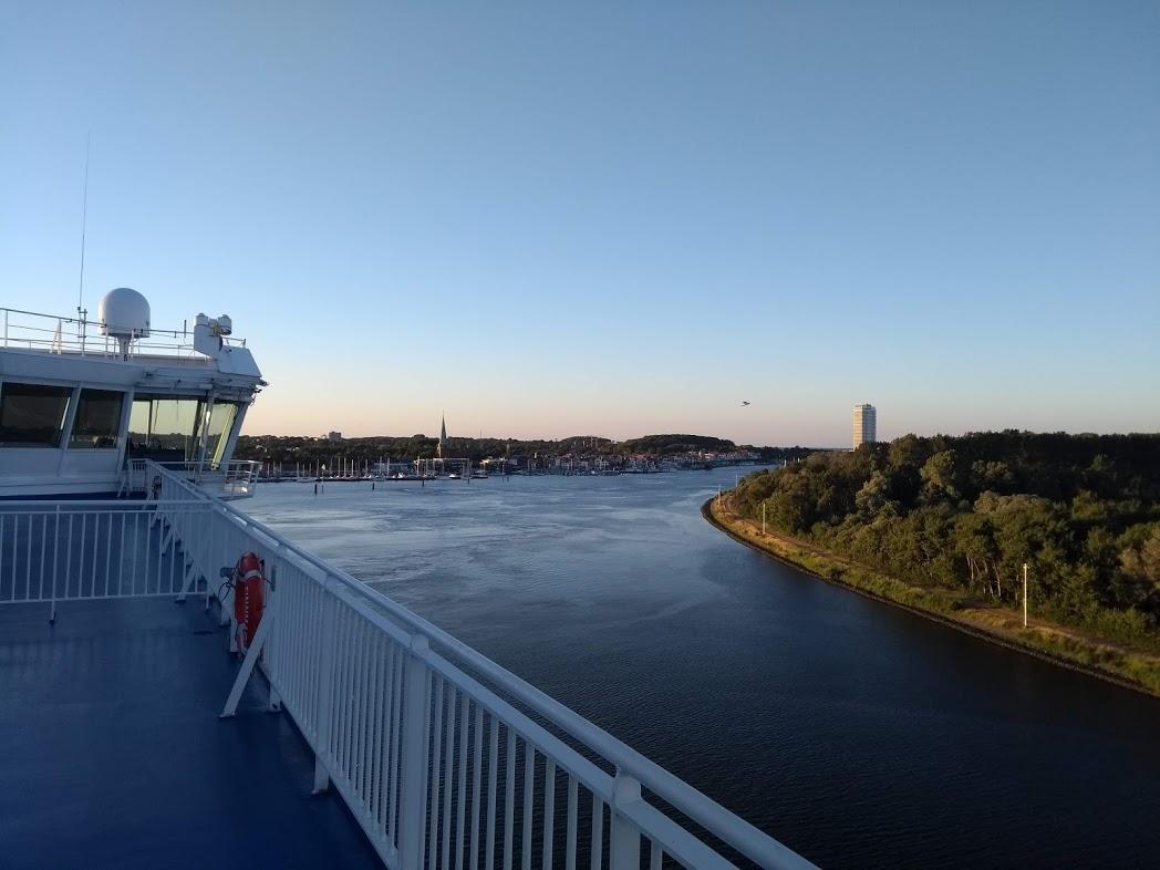 Ausblick vom Finnlines Schiff in Travemünde