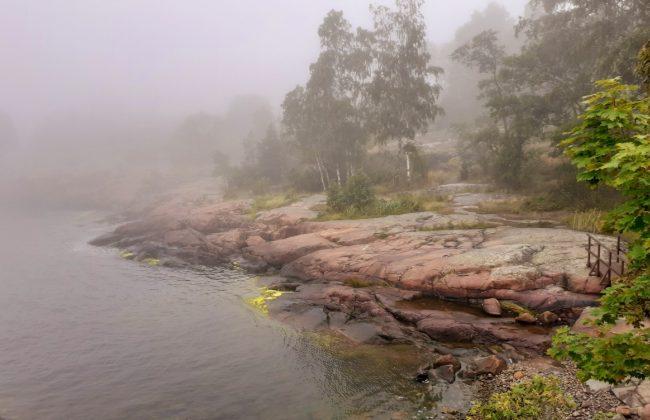 Vallisaari bei Nebel - fast schon mystische Atmosphäre