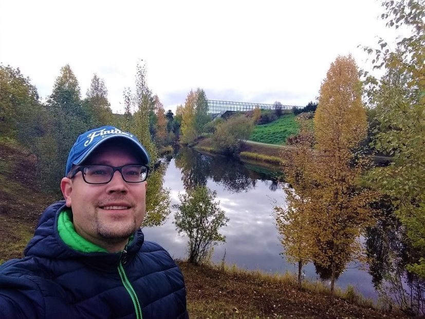 Herbst in Finnland am Arktikum in Rovaniemi