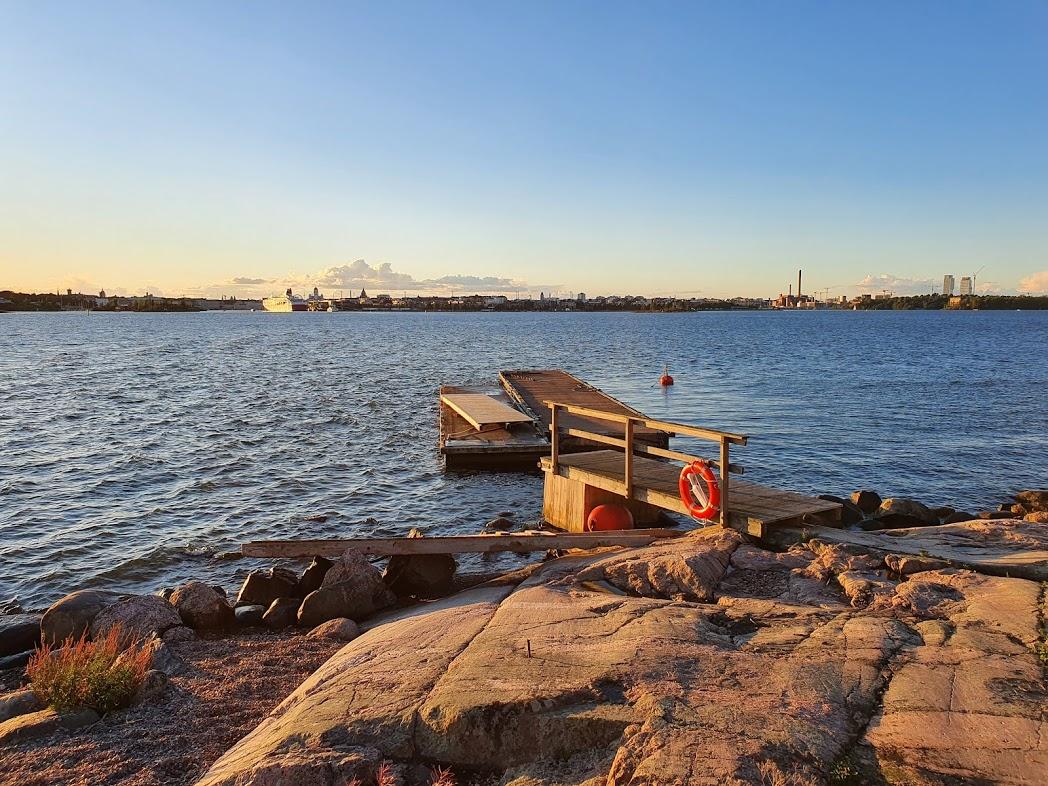 Blick auf Helsinki von der Insel Lonna