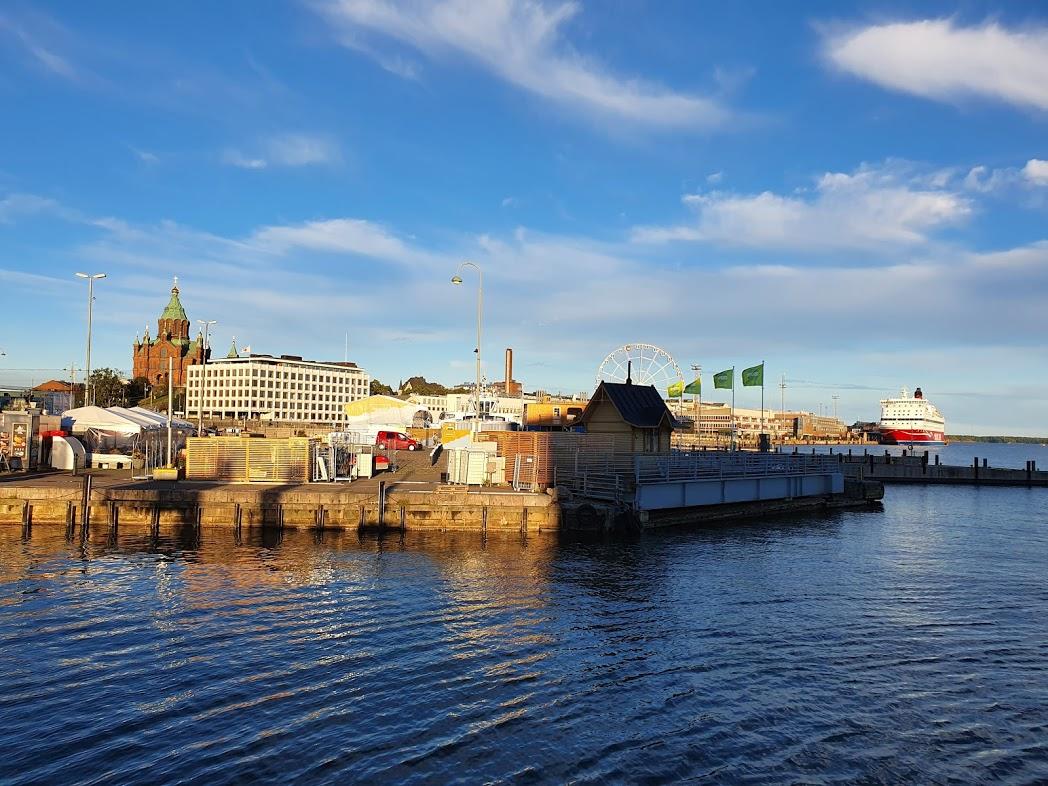 Kauppatori Helsinki vom Schiff der JT-Line betrachtet