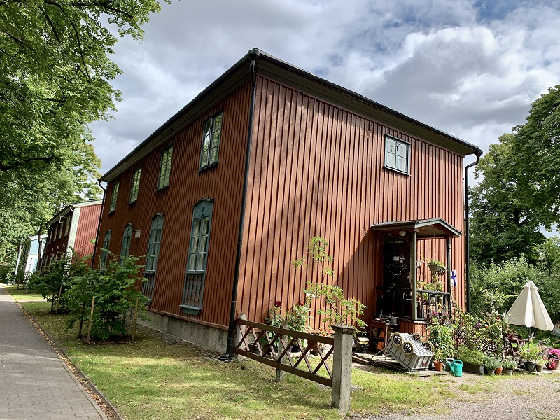 Holzhäuser in Käpylä