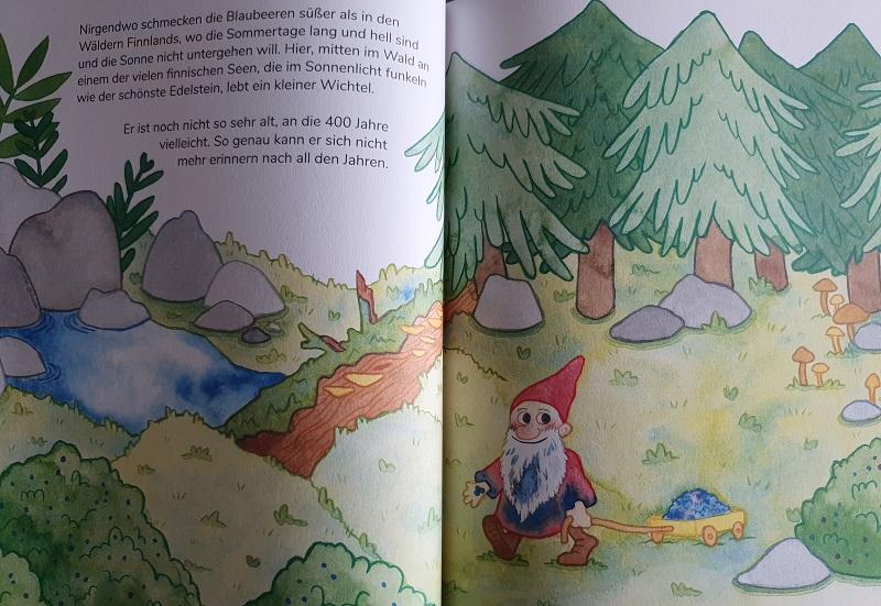 Einblick ins Buch Der Blaubeerwichtel von Nathalie Klüver
