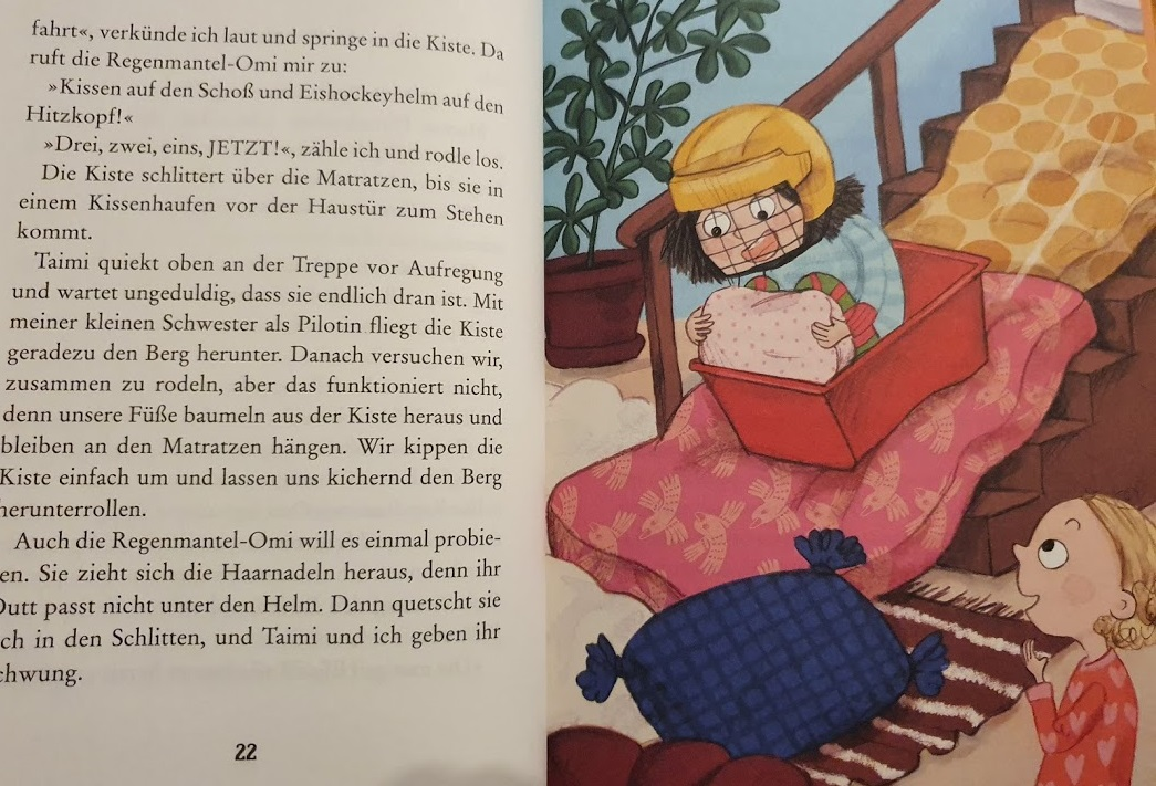 Hilja und Taimi im Buch Hilja und der Weihnachtszauber