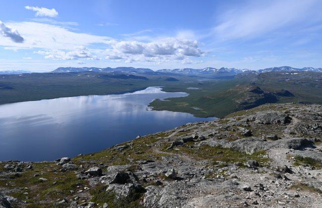 Ziel des Roadtrip nach Kilpisjärvi - der Blick vom Saana