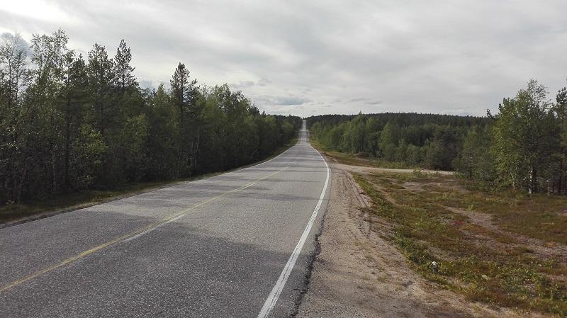 E8 in Nordfinnland