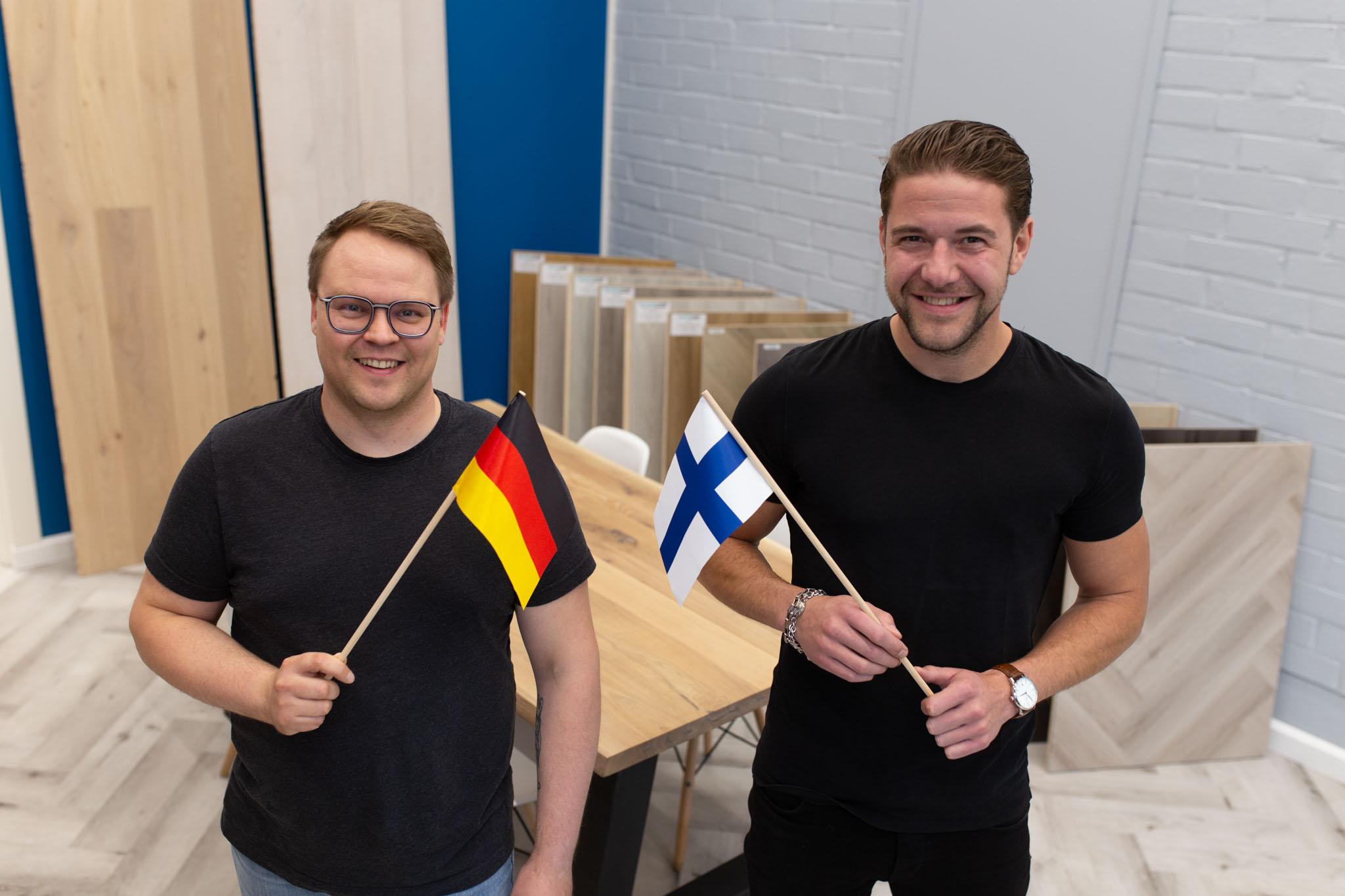 Jukka-Pekka Kallio und Jonas Burow (Nordic Floors)