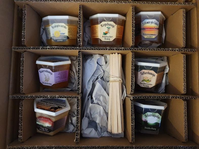 Arktisches Genusspaket aus dem Onlineshop von Arktischer-Honig Finnland