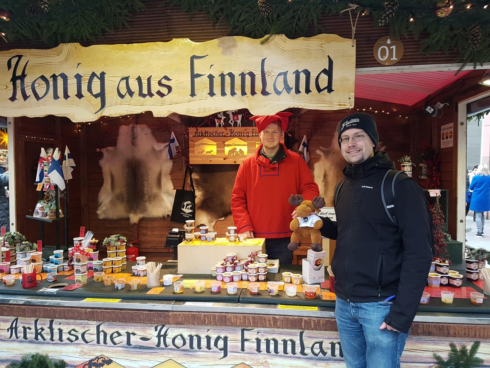 Arktischer-Honig Finnland auf dem Weihnachtsmarkt in Fulda 2018