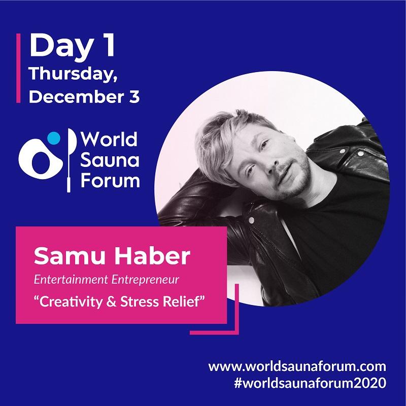 Samu Haber, Speaker beim World Sauna Forum 2020