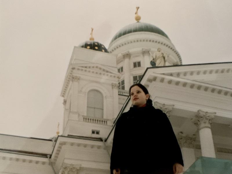Tanja zum ersten Mal in Finnland