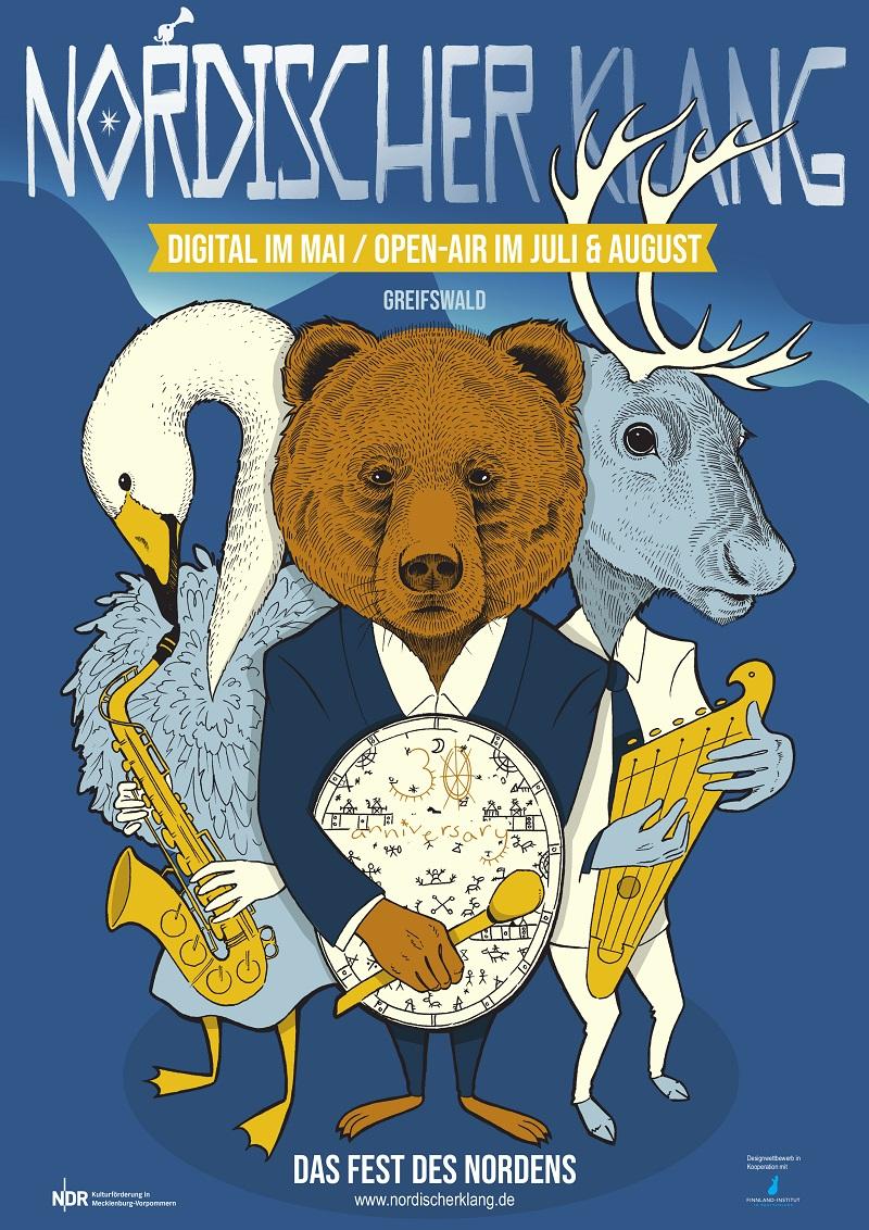 Das offizielle Festivalplakat zu 30 Jahre Nordischer Klang