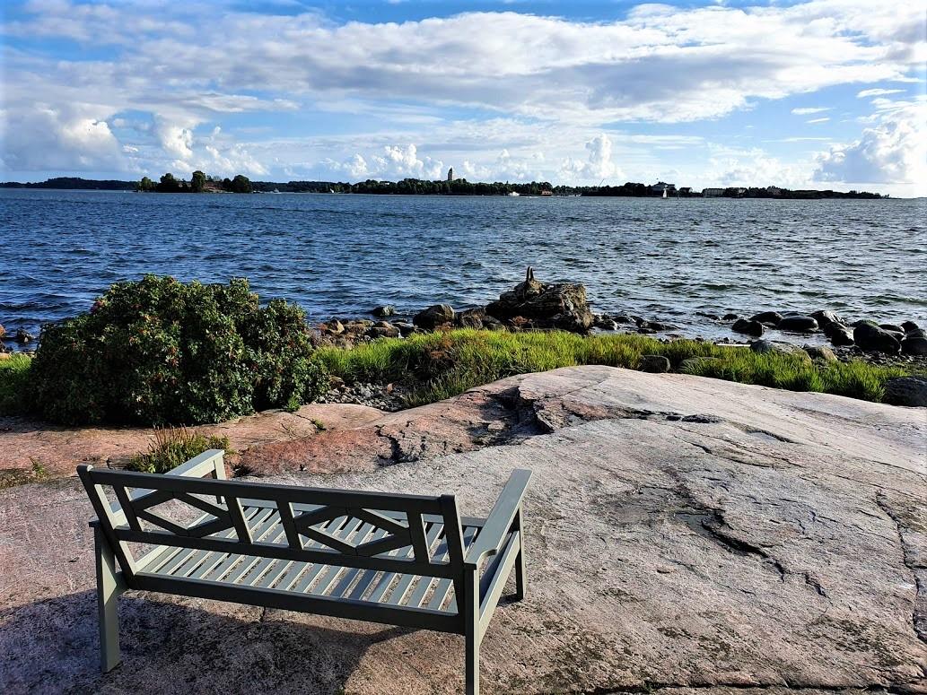 Blick von Katajanokanluoto nach Suomenlinna