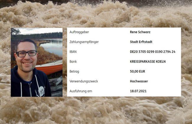 Finnlandfans helfen Hochwasseropfern